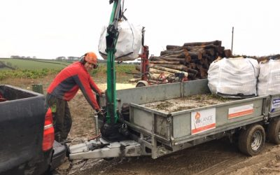 A new system to lift and deliver logs